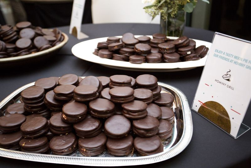 Hominy Grill whipped up special moon pies for the party.