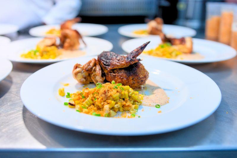 Chef Rodney Scott's pit-smoked chicken with street corn