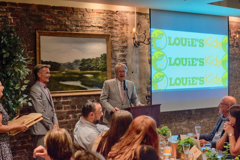 Louie's Kids founder Louis Yuhasz and Mayor JohnTecklenburg