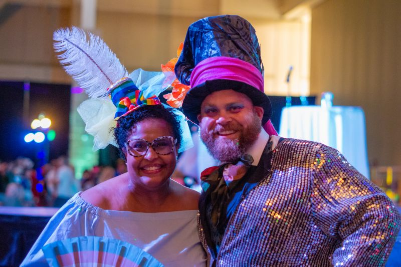 Veleria Levy and Mike Morris danced before the night's festivities began.