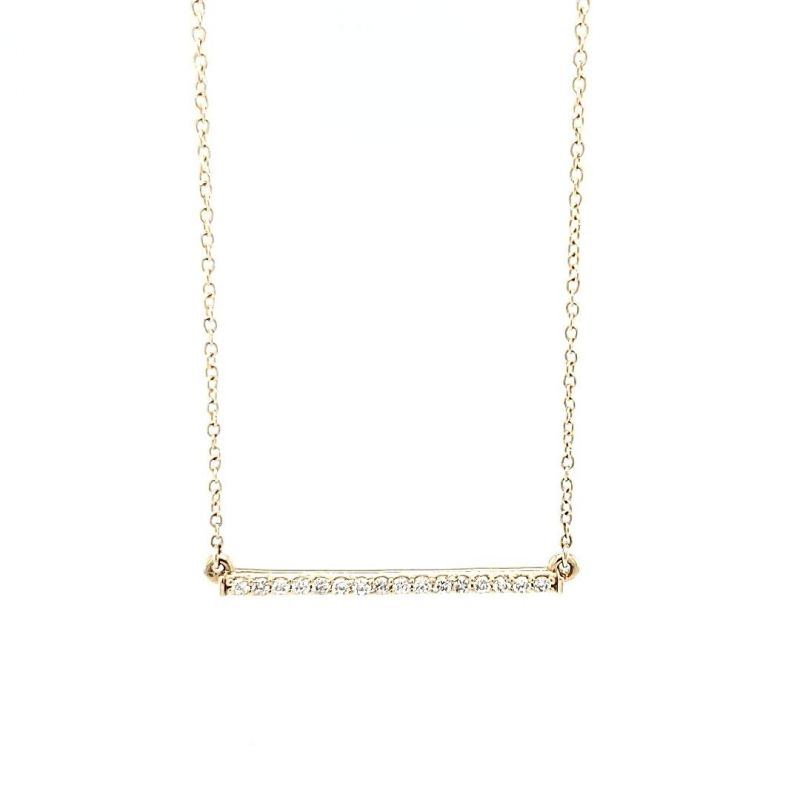 Gold Creations 14K yellow-gold 18-inch diamond bar necklace, $695 at Gold Creations
