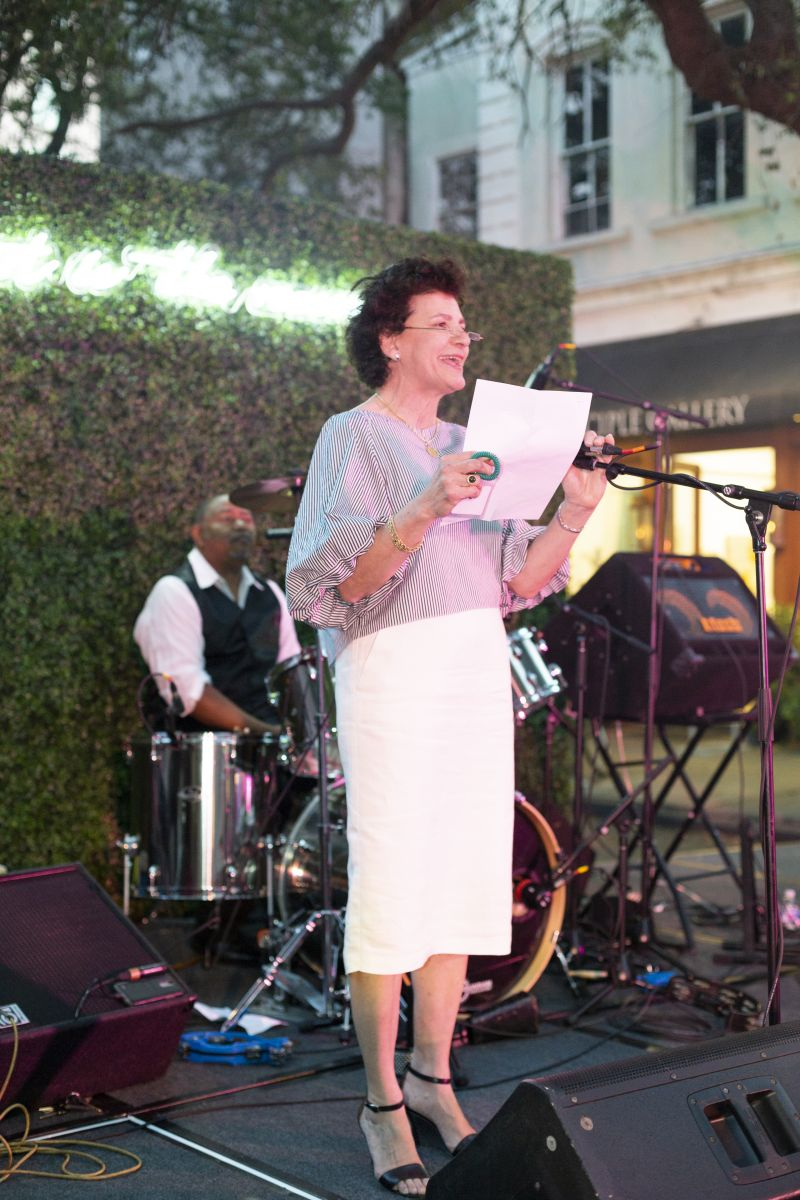 Gibbes Museum executive director and chief curator Angela Mack welcomed the crowd.