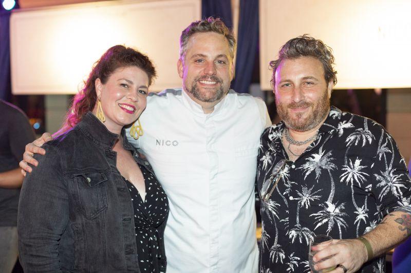 Erin Nathanson, chef Nico Romo, and Justin Nathanson