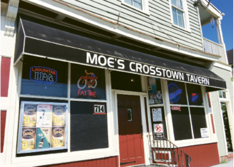 """Watering Hole:  """"I like the Belmont for cocktails, but if I want to get a beer with the guys, we usually head to Moe's Crosstown."""""""