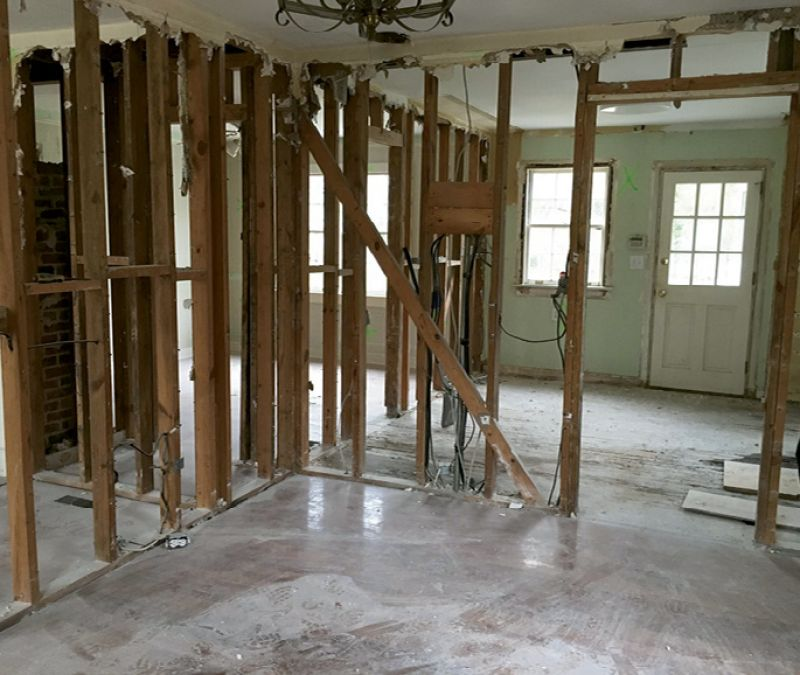 To achieve an open floor plan, Solid Renovations removed three and a half walls from the ground floor.