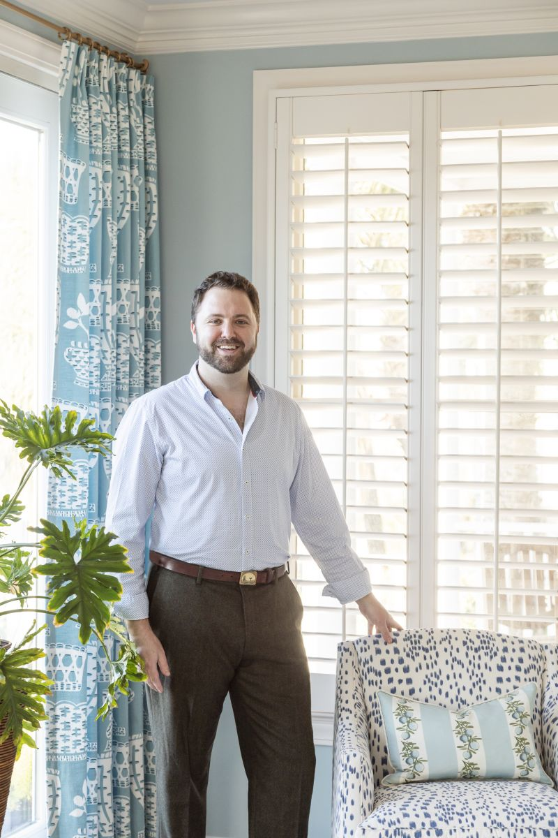 The couple turned to interior designer J.P. Horton to bring a contemporary yet traditional touch to the three story, five-bedroom, waterfront residence.
