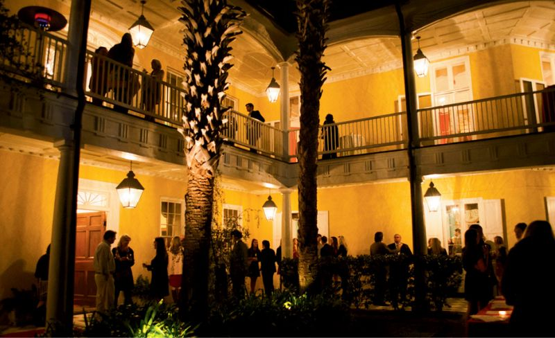 Guests file into the historic house to celebrate the launch of Charleston Recipes.