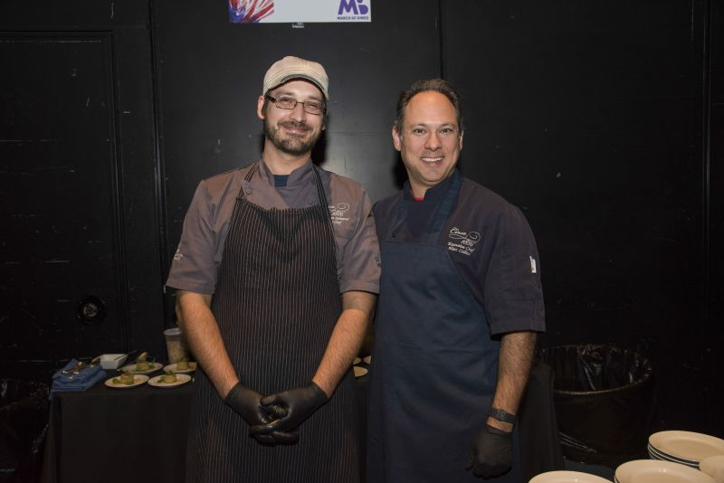 Circa 1886's Chef Marc Collins on right standing by a member of the restaurant's team