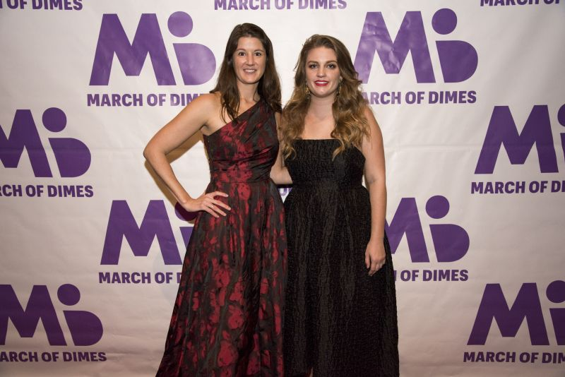 March of Dimes Executive Director Erin Herrmann and Development Specialist Audrey Flores
