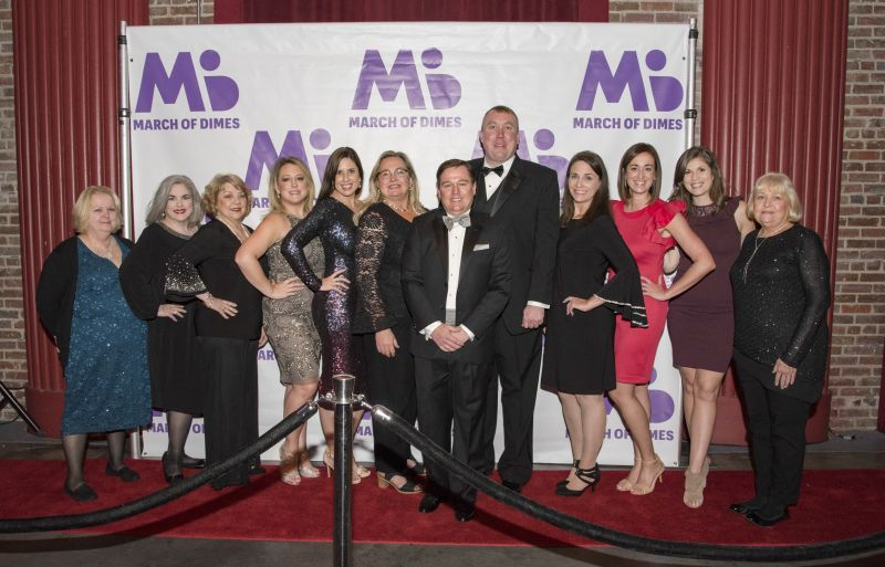 Gwen Pardee, Laura Mansfield, Jessica Helton, Richard Adams, event co-chairDr. Allison Dillon, Chris Robinson, Terri Purvis, Erica Fasky, Alexa Schulte, and Diane Reed
