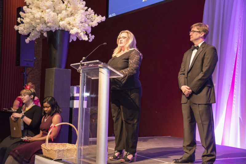 Event co-chairs Dr. Allison Dillon and George Bullwinkel took a moment to speak on their involvement with March of Dimes.
