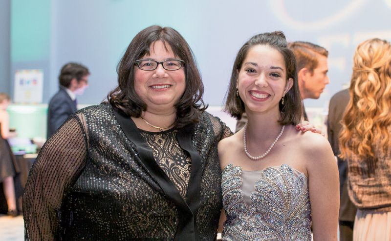 Dr. Jackie Kraveka with her daughter, Emily Barros