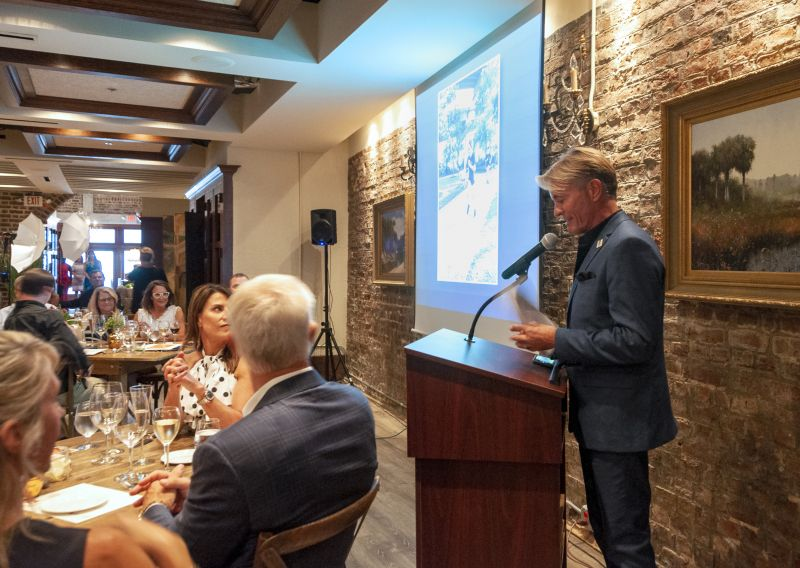 Louie's Kids founder, Louis Yuhasz, gives an impassioned speech to attendees at the 12th annual Little Chef Big Chef
