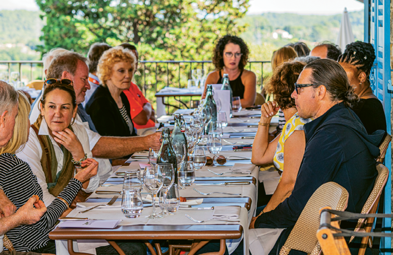 Welcome lunch in Mougins, France