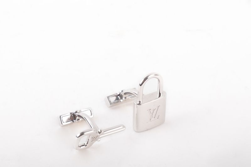 Louis Vuitton lock and key cufflinks, $498 at Gwynn's of Mount Pleasant