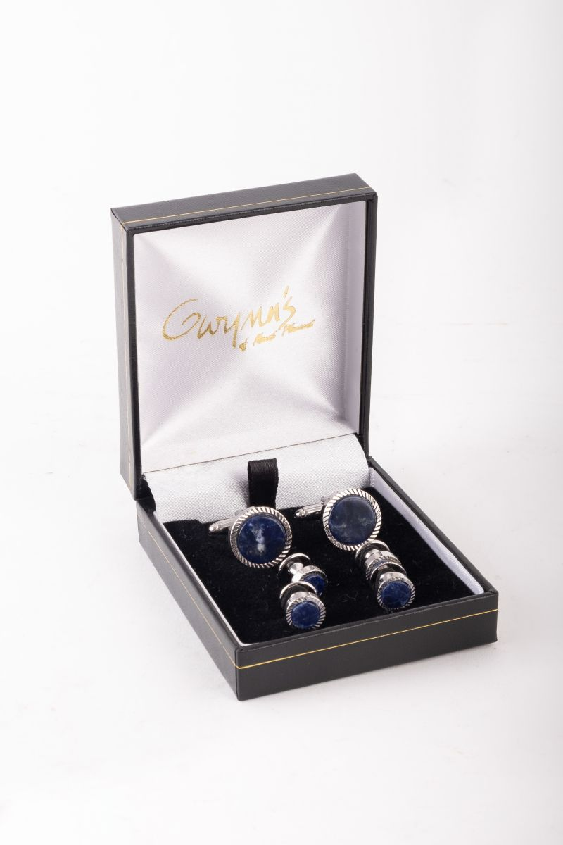 Jonathan Wachtel sodalite cufflinks, $225 at Gwynn's of Mount Pleasant