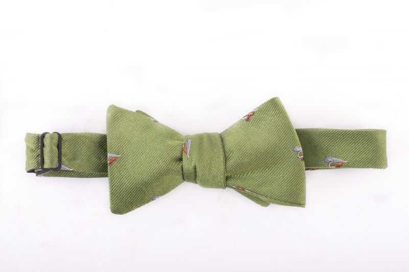 "Peter Blair silk ""Fish Fly"" bow tie, $65 at Grady Ervin & Co."