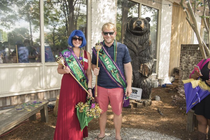 Austin Watson and Kari Tippens were crowned King and Queen of the Krewe.