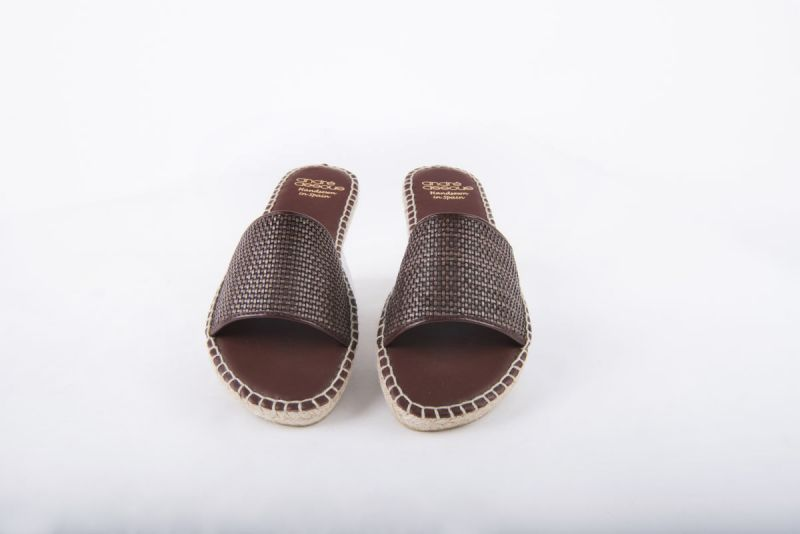 """Andre Assous """"Sindri Woven Pu"""" flat espadrille in """"chocolate,"""" $129 at Gwynn's of Mount Pleasant"""