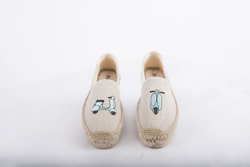 """Soludos """"Scooter"""" embroidered platform espadrille in sand, $75 at Shoes on King"""