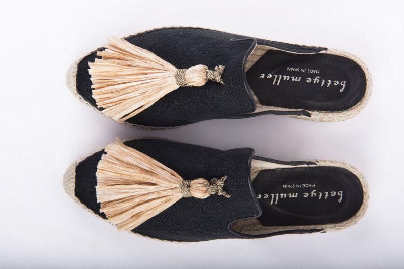 "Bettye Muller ""Rebat"" backless tassel espadrille, $225 at Shoes on King"