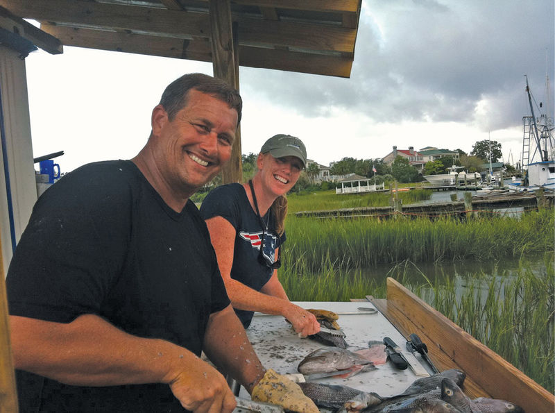 Kerry, a former fisheries biologist, handles everything from the financials to filleting.