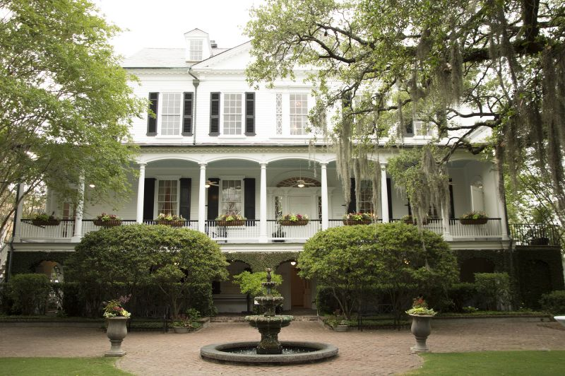 Barre Street's Thomas Bennett House provided a perfect party location.
