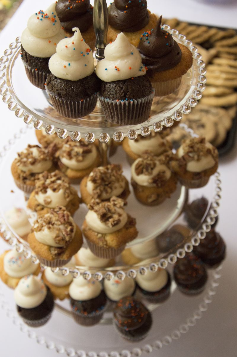 Dessert included an array of decadent cupcakes, catered by Cupcake Down South.
