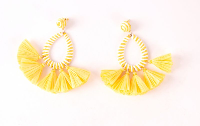 Maris Dehart yellow fan earrings, $48 at Maris Dehart