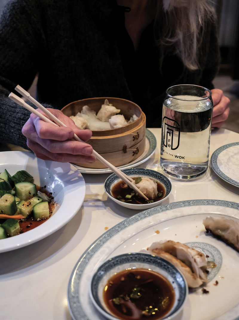 House-made dumplings at Flock to the Wok, a new hot spot on Whitaker Street
