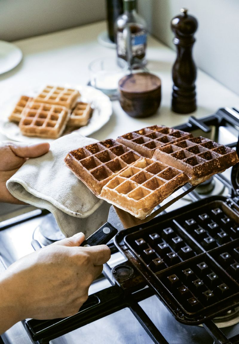 """""""I use a vintage-ish Nordicware cast iron waffle iron I got on eBay. It's one of my favorite pieces of cookware,"""" says Wong. """"I love crumble. I try to put it on everything."""""""