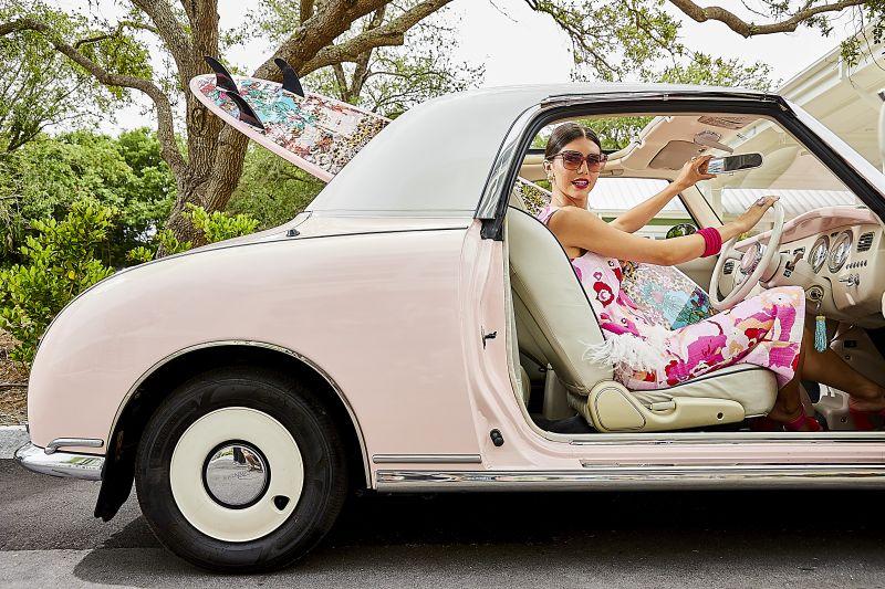 Model Katarina Pavic photographed on location at Sweetgrass Inn at Wild Dunes Resort