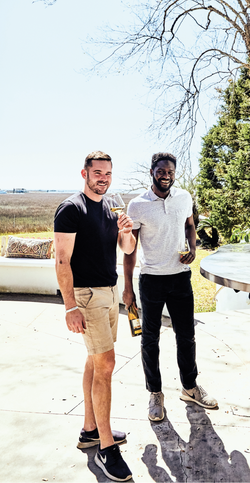 Miles and Femi first became friends while working at the Charleston Grill, under sommelier Rick Rubel's tutelage.