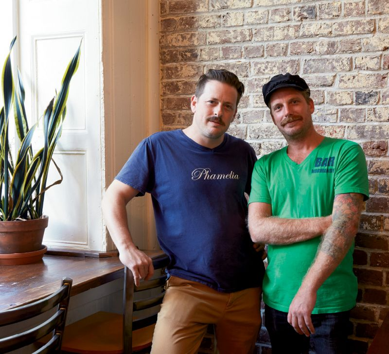 Night Shift: Philip Michael Cohen (left) and chef Alex Lira convert Normandy Farm bakery into Bar Normandy.