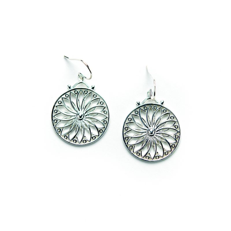 "Southern Gates sterling silver ""Sunburst"" earrings, $80 at cargoholdinc.com/storelocator"