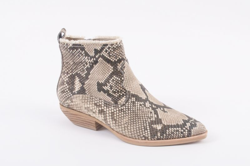 """Dolce Vita """"Unity"""" snake skin-embossed leather boot, $160 at Shoes on King"""
