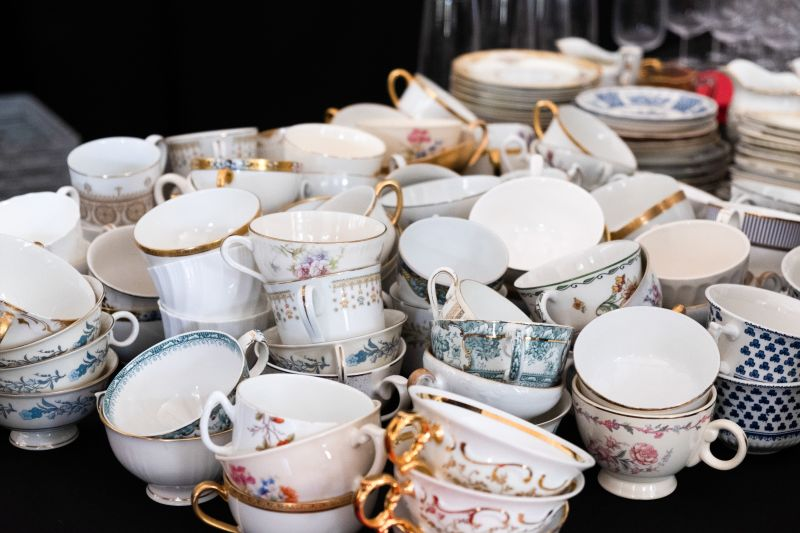 High Tea calls for fancy fine China.