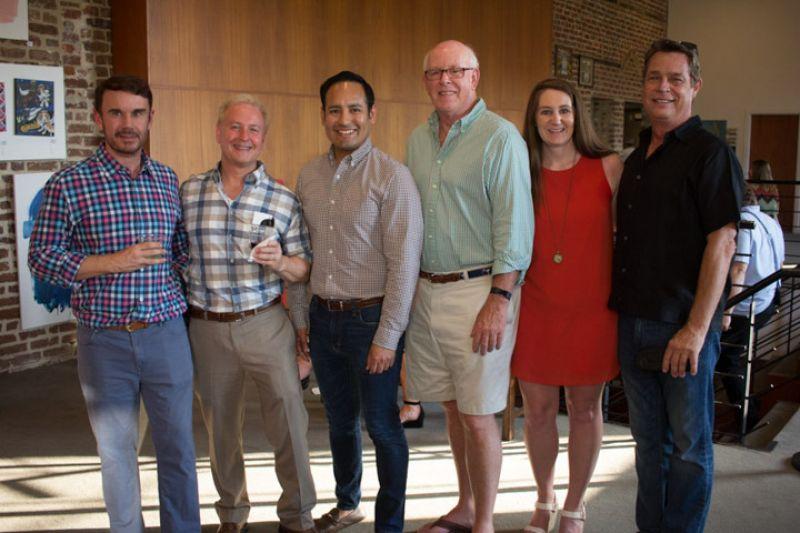 Larry James, Bob Lendino, Jay Meza, George Siemens, Betsey Geier, and Bobby Shealy