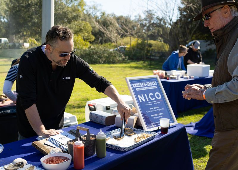 Nico Romo of NICO   Oysters + Seafood served raw and roasted bivalves.
