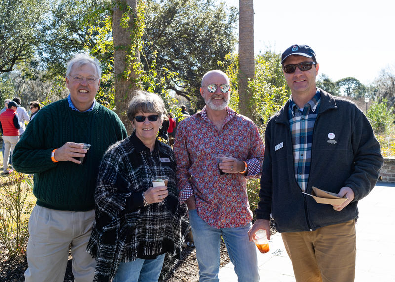 Michael and Jenny Messner with Jim Martin and Harry Lesense