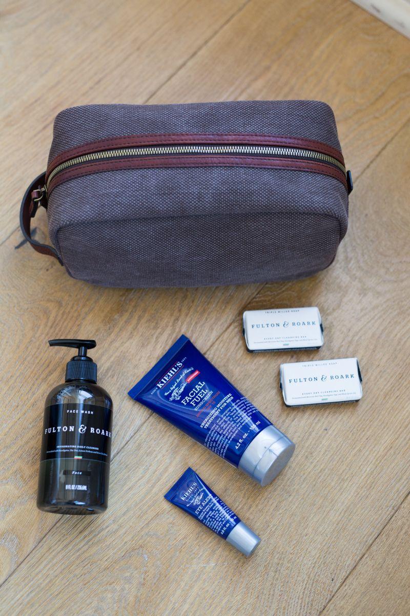 Dopp Kit from Grady Ervin & Co.; Fulton & Roark products from M. Dumas & Sons; Kiehls Men's products from Gwynn's of Mount Pleasant