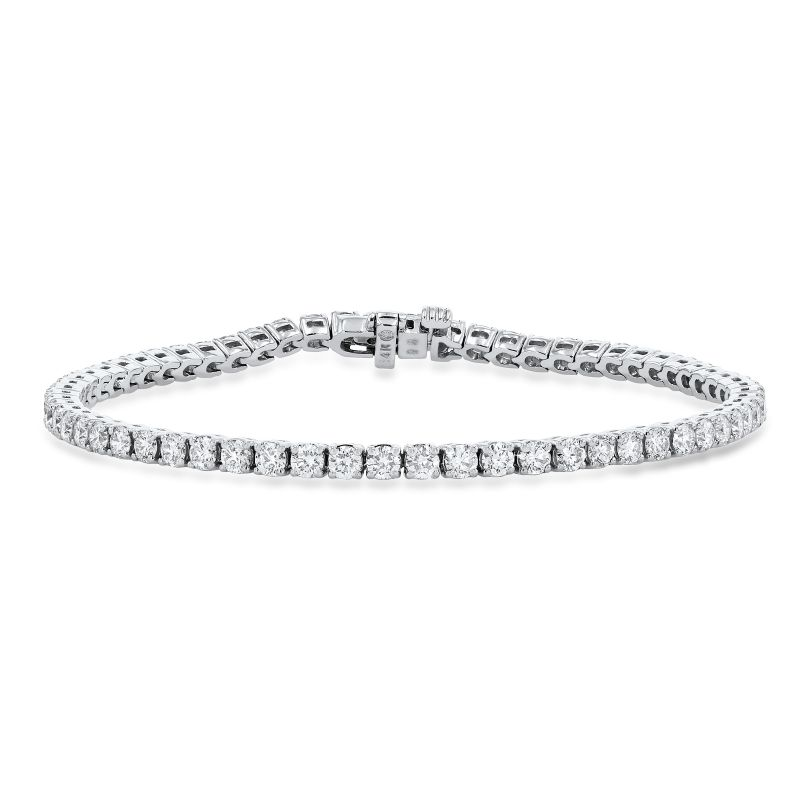 Diamonds Direct Designs 14K white-gold diamond tennis bracelet, price upon request at Diamonds Direct