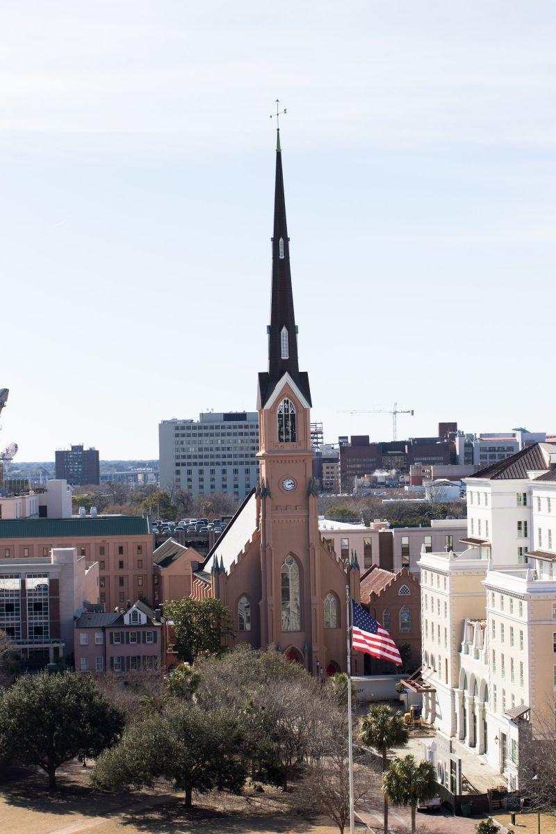 What a view! Panoramas of the Charleston peninsula....