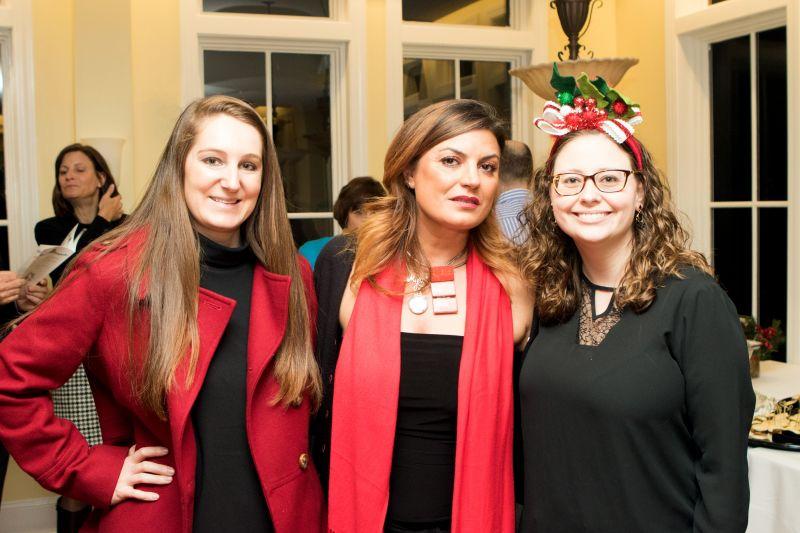 Charleston magazine marketing manager Betsy Geier, Miriam Leonetti, and Alex Field