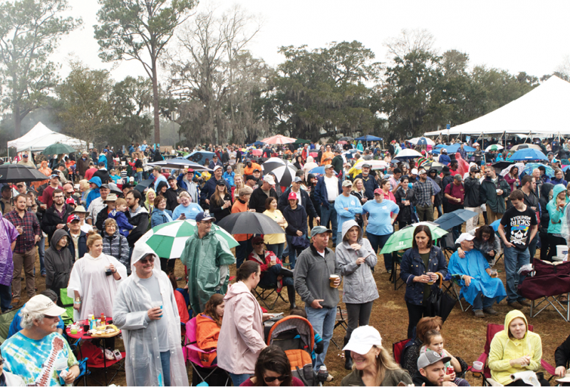 Despite rainy weather, the festival drew a huge crowd.