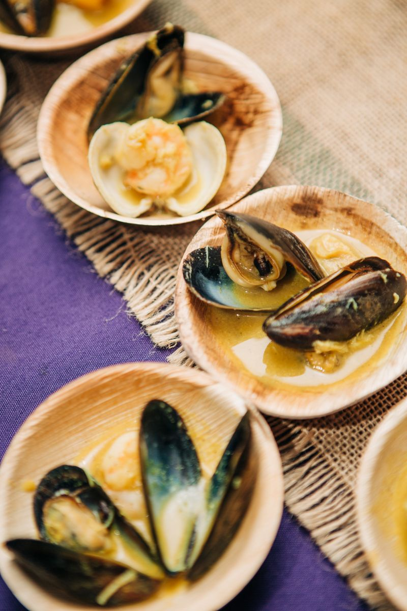 Mussels and clams made for the ideal party snack