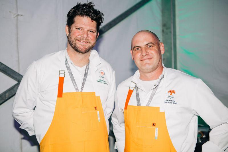 The Atlantic Room at the Ocean Course chef de cuisine John Ondo and Villa Resort executive chef Jason Cote