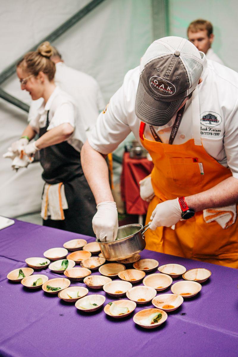 Oak Steakhouse executive chef Mark Keiser