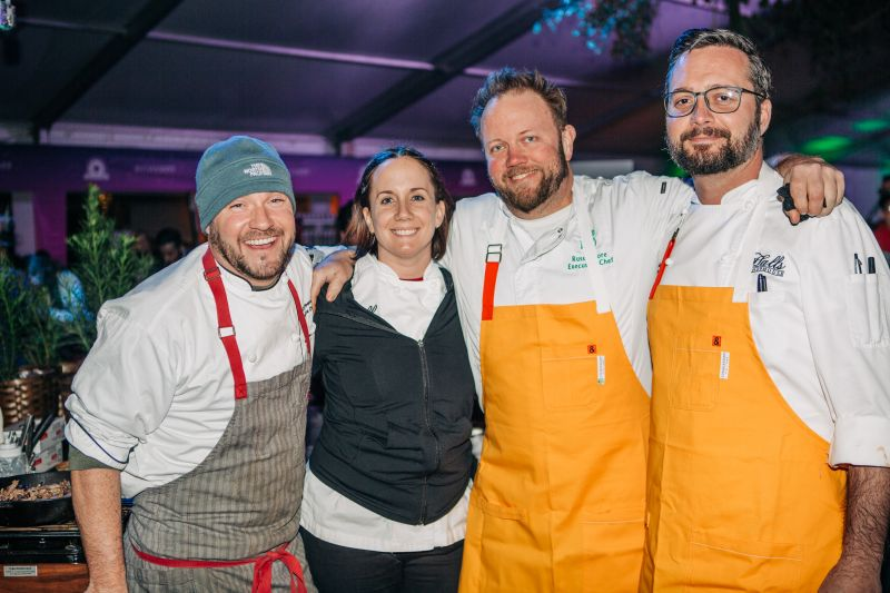 Matt Green, Old Village Post House executive chef Robyn Guisto, Slightly North of Broad executive chef Russ Moore, and Halls Chophouse chef de cuisine Adam Jakins
