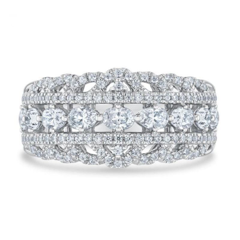 """Kleinfeld Fine Jewelry 1 3/8 ctw """"Prince Anniversary Band,"""" $3,700 at REEDS Jewelers"""